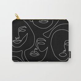 Faces in Dark Carry-All Pouch