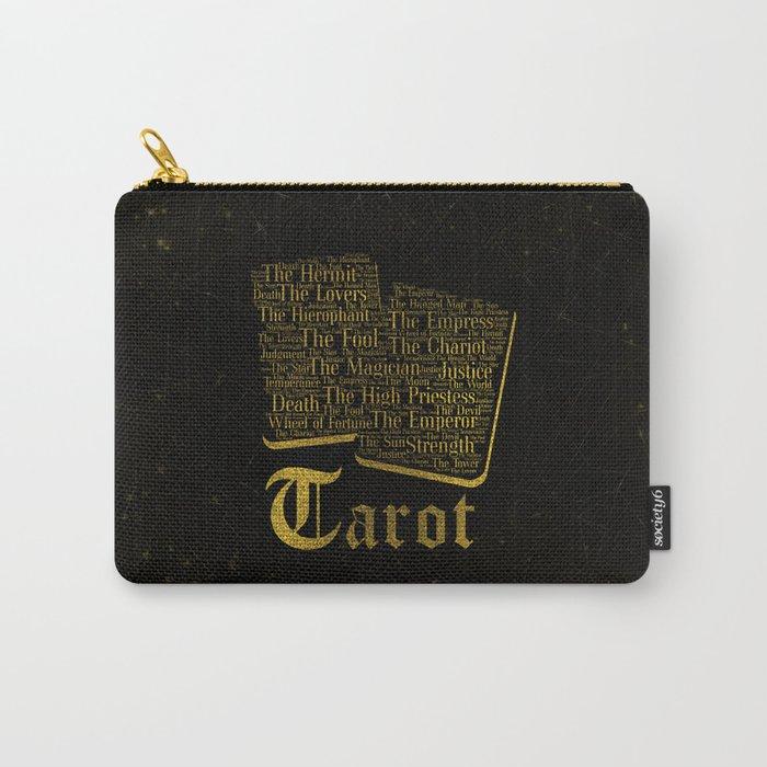 Tarot Major Arcana Word Art Carry-All Pouch