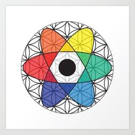 Flower of Science Art Print