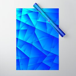 Bright sea pattern of heavenly and blue triangles and irregularly shaped lines. Wrapping Paper