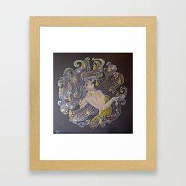 Pear Hair Framed Art Print
