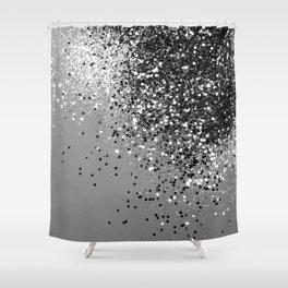 Sparkling Silver Gray Lady Glitter #1 #shiny #decor #art #society6 Shower Curtain