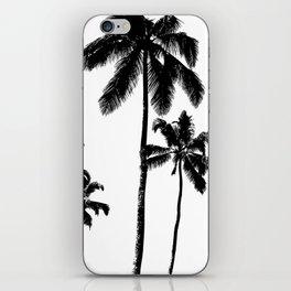 Monochrome tropical palms iPhone Skin