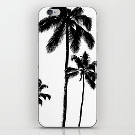 Monochrome tropical palms iPhone Skin