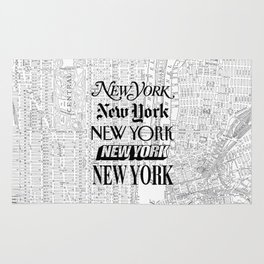New York City black and white New York poster I love heart NYC Design black-white home wall decor Rug