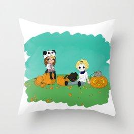 Chey & Cry Pumpkin Fest Throw Pillow