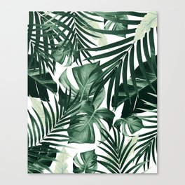 Tropical Jungle Leaves Pattern #4 #tropical #decor #art #society6 Canvas Print