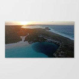 Sunset over Dean's Blue Hole Canvas Print