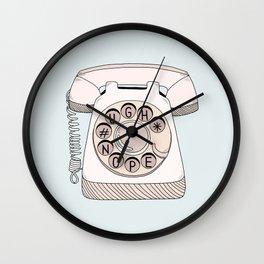 Phone Call Wall Clock