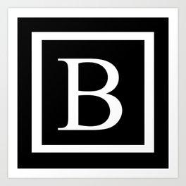 B Monogram Art Print
