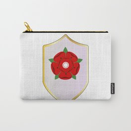 Lancastrian Red Rose Shield Carry-All Pouch