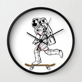 Astronaut Skater Wall Clock