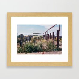Untitled - 23.08.2013 - Sussex Downs Framed Art Print