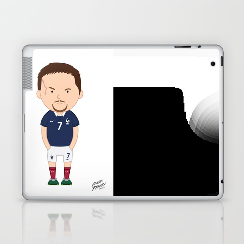 Franck Ribéry - France - World Cup 2014 Laptop & Ipad Skin by Toonsoccer LSK9053105