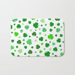 Green Shamrock Pattern Bath Mat