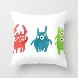 Litte creatures 1 Throw Pillow