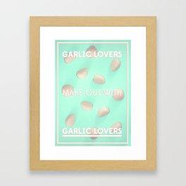Garlic Lovers Framed Art Print
