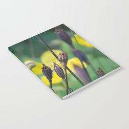 slug dancing on a poppy Notebook