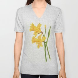 Early Daffodils Unisex V-Neck
