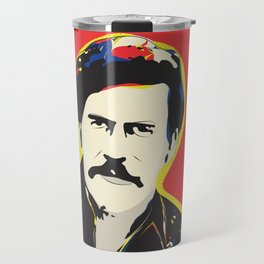 Pablo Escobar Pop Art Typography Quote Print Poster Travel Mug