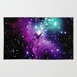 Eagle Nebula purple blue teal Rug