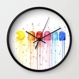 Retro Rainbow Geek Video Game Art Wall Clock