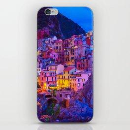 Manarola Cinque Terre Italy at Night iPhone Skin