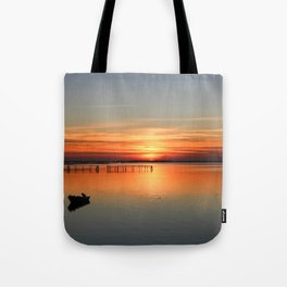 Sunset in Porto tolle Italy Tote Bag