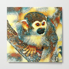 AnimalArt_Monkey_20170602_by_JAMColorsSpecial Metal Print