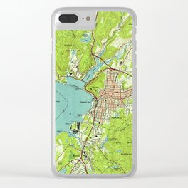 Vintage Map of Peekskill New York (1947) Clear iPhone Case