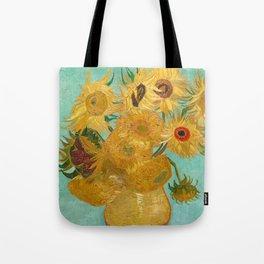Van Gogh - Sunflowers - Vase with Twelve Sunflowers Tote Bag