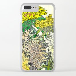 With Flowers Clear iPhone Case