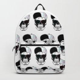 White Art Stylish Skull Backpack