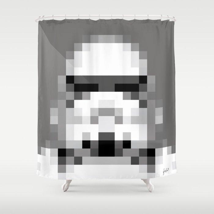 Stormtrooper 8 Bit Shower Curtain