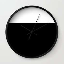 Color Block-Black and White Wall Clock