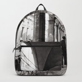 Black and white Bologna Street Photography Backpack