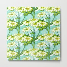 Just A Few Feverfew Metal Print