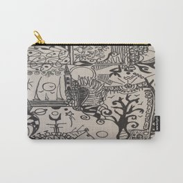black and doodle 3 Carry-All Pouch