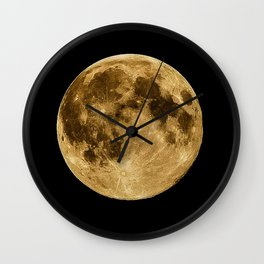 Full moon during night time Wall Clock