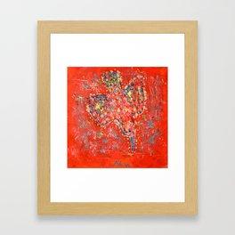 Psychedelic bird 02 Framed Art Print
