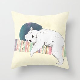 My bear is dreaming Throw Pillow