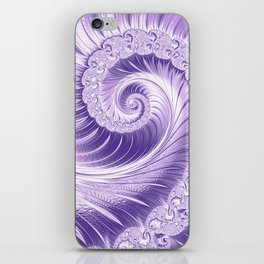 Ultra Violet Luxe Spiral Pattern   Trendy Color of the Year 2018 iPhone Skin