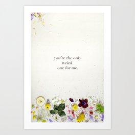 Valentine's Day Weird Botanical Art Print
