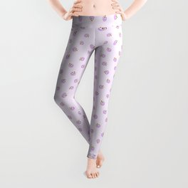 Relax & Eat More Ice Cream in Purple Leggings