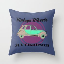 Vintage Wheels - Citroen 2CV Charleston Throw Pillow