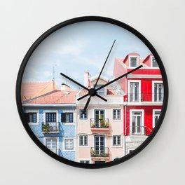 Colorful Buildings Wall Clock