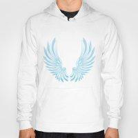 angel wings Hoodies featuring wings by Li-Bro