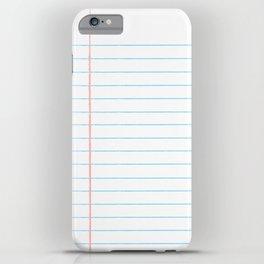 Notebook Paper Digital Watercolor School Chalk iPhone Case