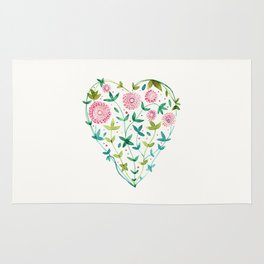 garden heart Rug
