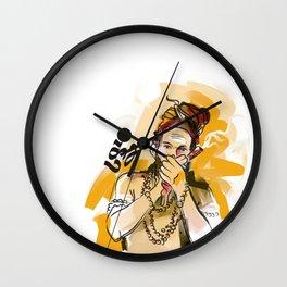 Kumbh Mela India Sadhu Wall Clock